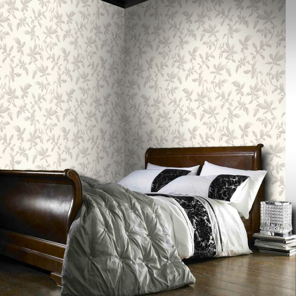 Graham and Brown Premier Sarra Silver 19601 Wallpaper