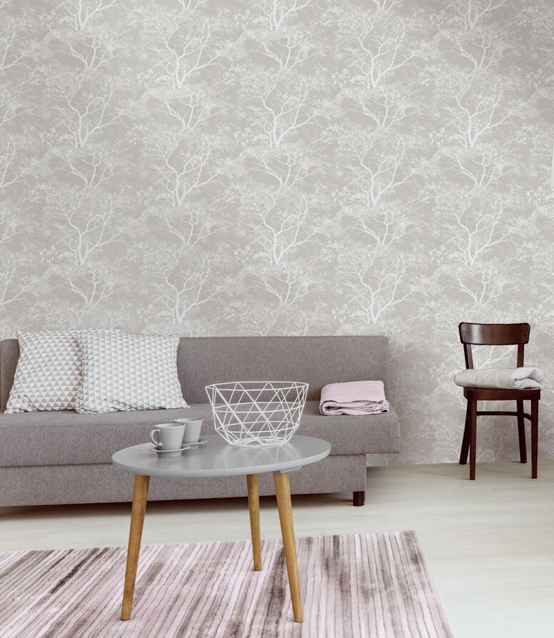 Holden Decor Whispering Trees Grey 65401 Wallpaper