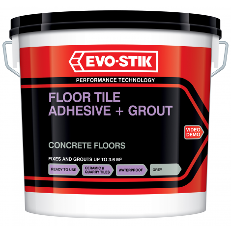 Evo-Stik Floor Tile Adhesives & Grout For Concrete Floors (Select Size)