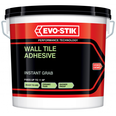 Evo-Stik Instant Grab Wall Tile Adhesive (Select Size)