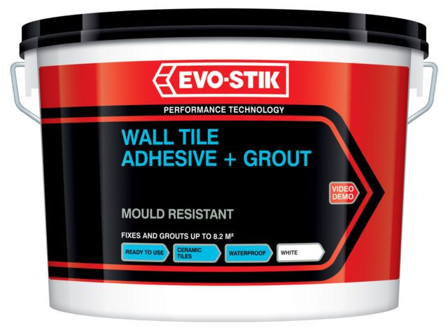 Evo-Stik Mould Resistant Wall Tile Adhesive & Grout (Select Size)