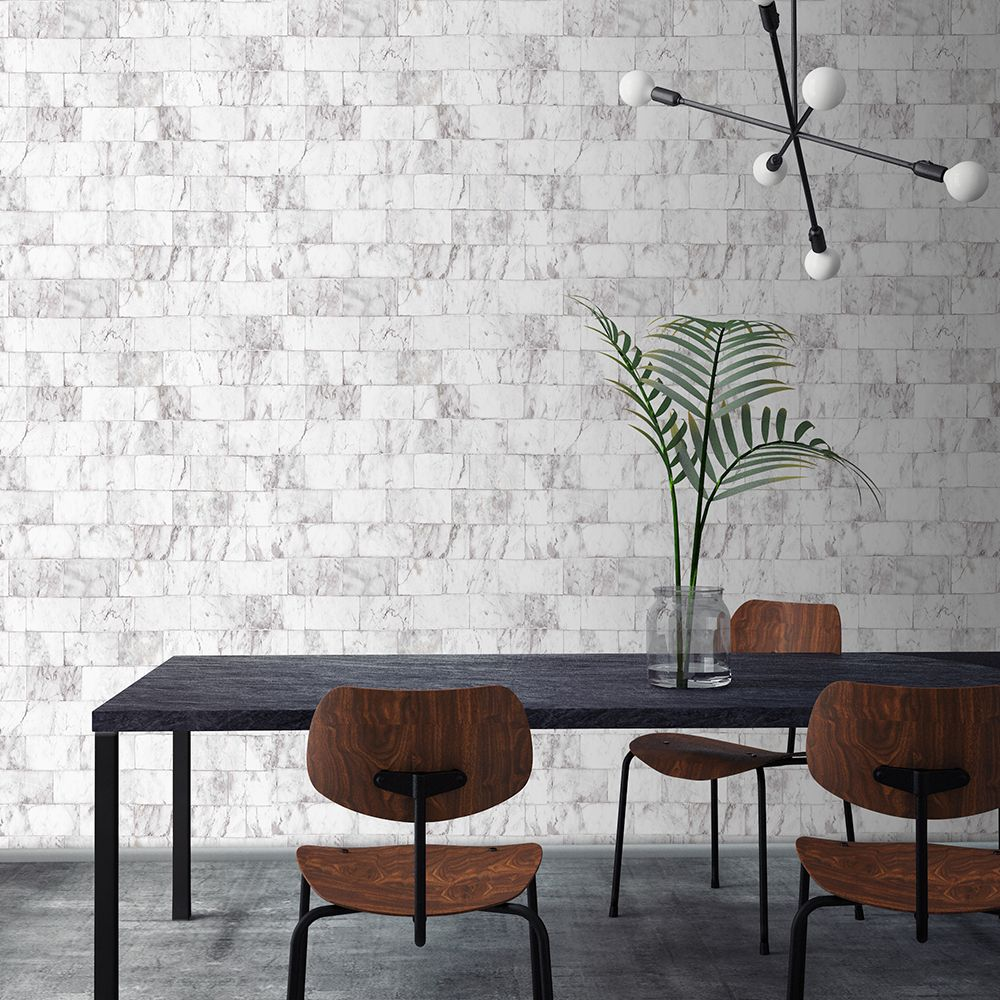 Graham and Brown Contour Carrer Grey 103924 Wallpaper PB