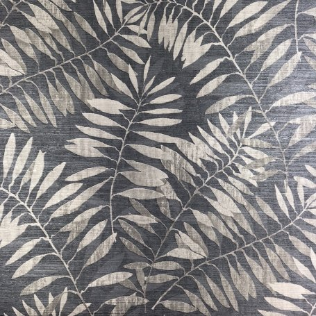 Grandeco Entwine Palm Navy/Grey A32606 Wallpaper
