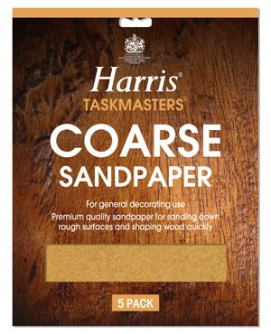 Harris Sandpaper Coarse (Pack of 10)