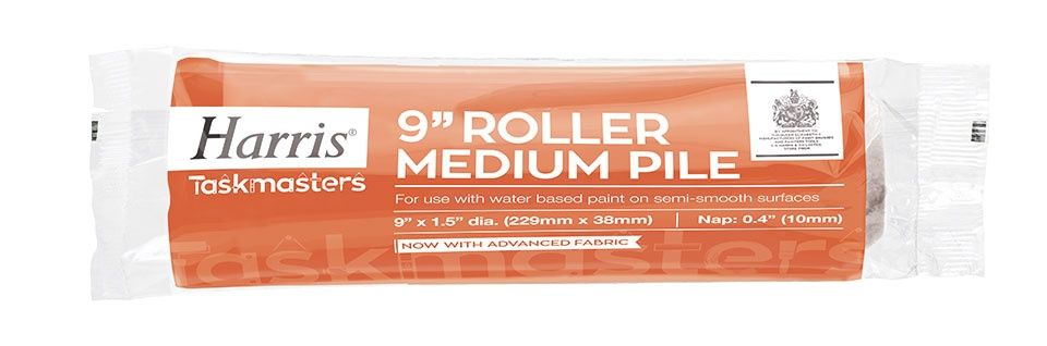 "Harris Taskmasters Medium Pile Roller Sleeve - (1.5"" Dia) - 9"""