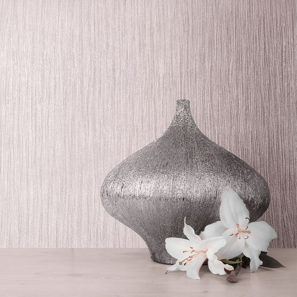 Muriva Lustre Texture Kate Fawn Blush Pink 114921 Wallpaper