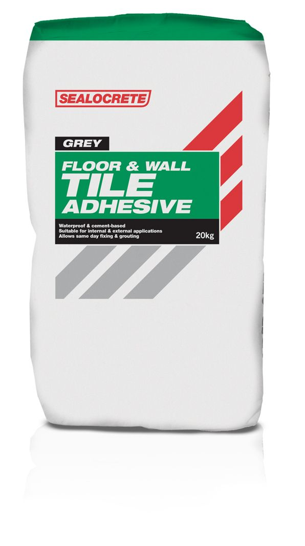 Sealocrete Rapid Set Floor And Wall Tile Adhesive Grey 20kg